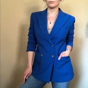 Ralph Lauren royal blue double breasted blazer